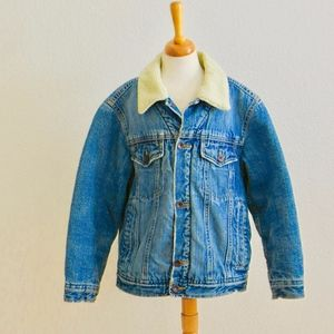 Old Navy YOUTH Distressed Denim Trucker Jacket